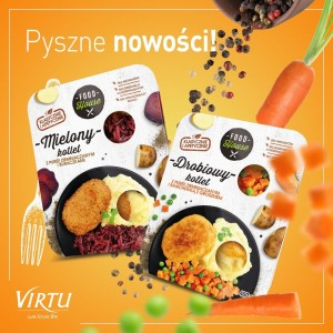 VIRTU KOTLET DROBIOWY +PUREE 400G