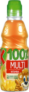 KUBUŚ SOK 100% MULTIWITAMINA 300ML/12SZT