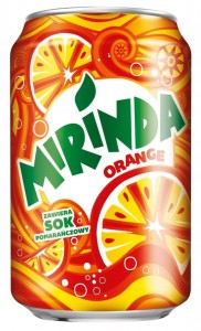 MIRINDA ORANGE 330ML/24SZT