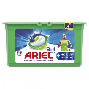 ARIEL KAPSUŁKI DO PRANIA 3W1 +ACTIVE DEO FRESH 31 PRAŃ