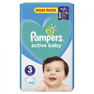 PAMPERS PIELUCHY ACTIVE BABY S3 66SZT