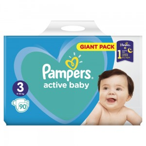 PAMPERS PIELUCHY ACTIVE BABY S3 90SZT