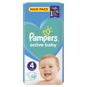 PAMPERS PIELUCHY ACTIVE BABY S4 58SZT