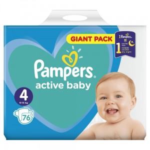 PAMPERS PIELUCHY ACTIVE BABY S4 76SZT