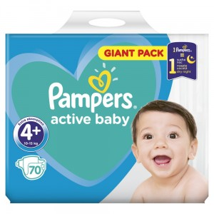 PAMPERS PIELUCHY ACTIVE BABY S4+ 70SZT
