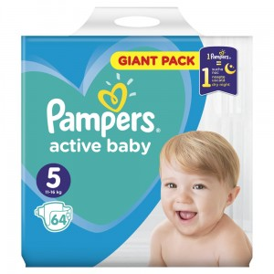 PAMPERS PIELUCHY ACTIVE BABY S5 64SZT