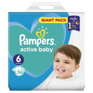 PAMPERS PIELUCHY ACTIVE BABY S6 56SZT