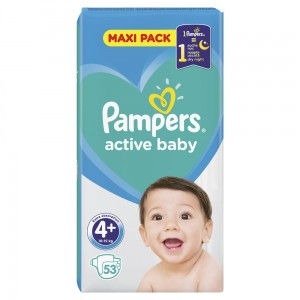 PAMPERS PIELUCHY ACTIVE BABY S4+ 53SZT