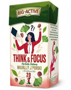 BIG-ACTIVE HERBATA ZIELONA THINK&FOCUS 20TB